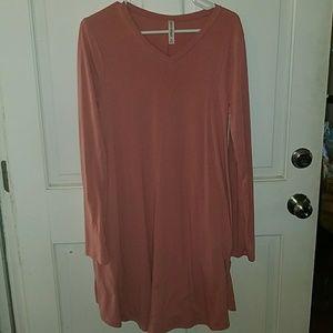 Zenana premium pink tunic medium dress